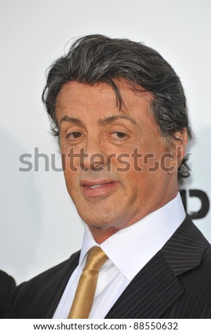 """Sylvester Stallone at the world premiere of his new movie """"The Expendables"""" at Grauman's Chinese Theatre, Hollywood. August 3, 2010  Los Angeles, CA Picture: Paul Smith / Featureflash - stock photo"""