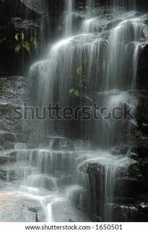 Sylvia Waterfall, Valley of the Waters, Blue Mountains National Park, NSW - stock photo