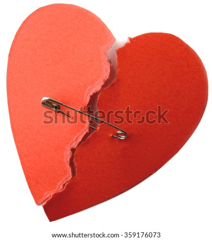 symbol for repaired heart for love or health