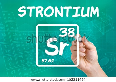 Symbol for the chemical element strontium