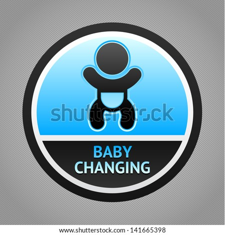 Symbol for women and baby , baby changing. Rasterized versions (copy) - stock photo