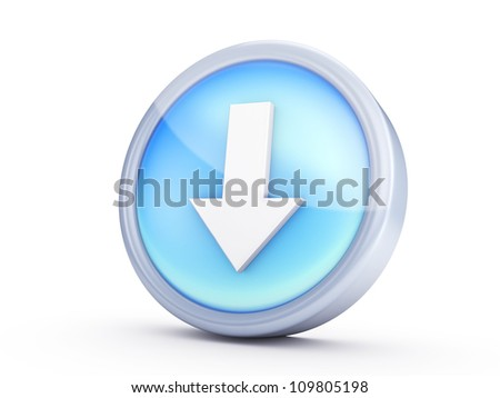 Symbol icon isolated on white background ,with clipping path. - stock photo