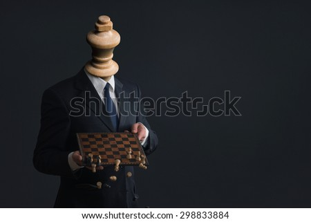 Symbol of a headless businessman who fires his staff - stock photo