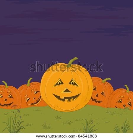 symbol of a holiday of Halloween: a pumpkins Jack O Lantern army