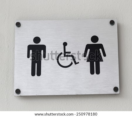 Symbol of a public toilet  - stock photo