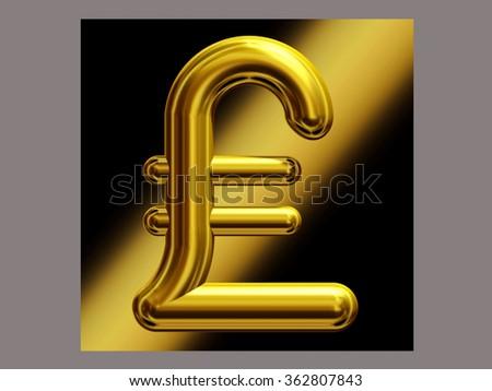 Symbol British Pound Currency Gold Stock Illustration 362807843