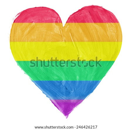 Symbol of gay,lesbian love isoloated on pure white background