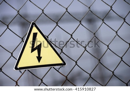"Symbol of ""High voltage"" in electric power."