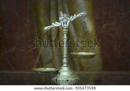 Symbol of law and justice, law and justice concept - stock photo