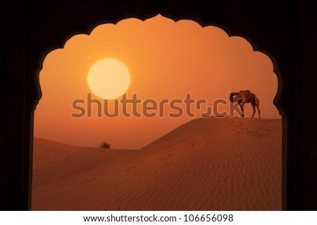symbol of love silhouette - stock photo