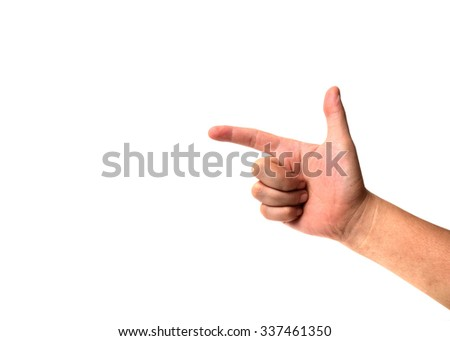 symbol of man hands isolated on white background.
