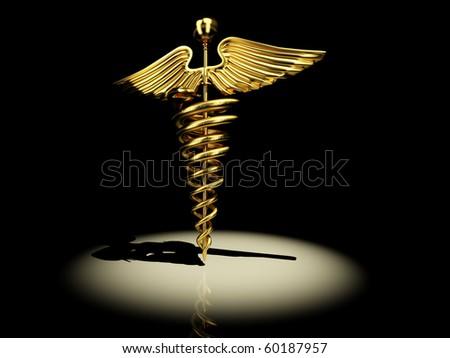 Symbol of medicine. 3d - stock photo