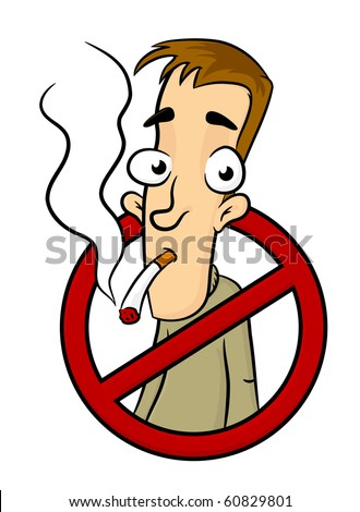 Symbol of No smoking zone sign with people on it - stock photo