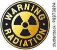 symbol of radiation - stock photo