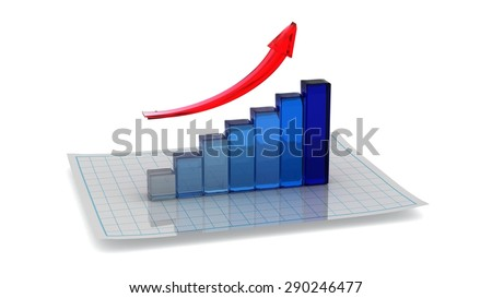 symbol of the chart of growth
