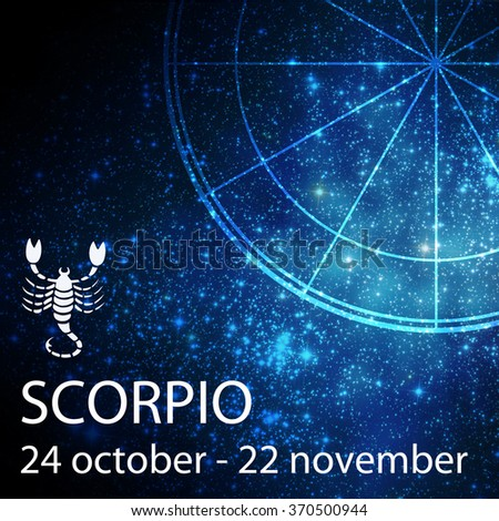 symbol of the zodiac sign of scorpio - stock photo