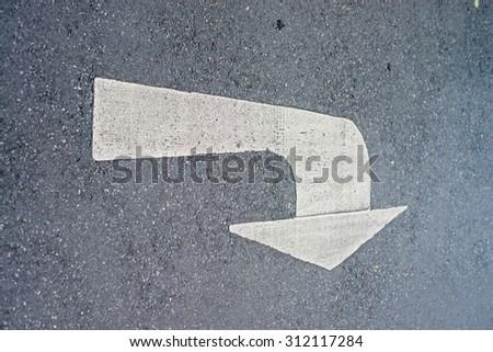 Symbol on street - stock photo