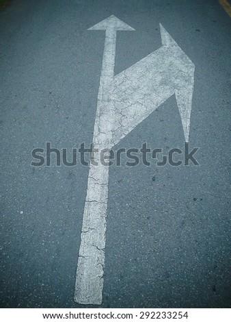 Symbol on street road - stock photo