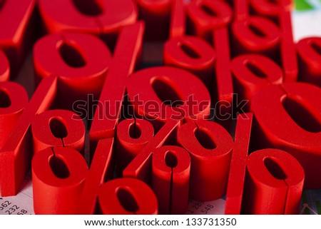 Symbol percent, Concept of discount - stock photo