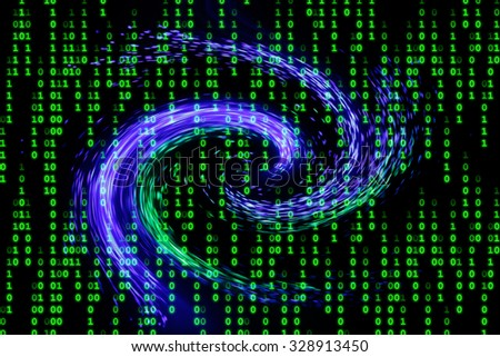 Symbol picture for fast data transfer (for example via fiber optic cables). - stock photo