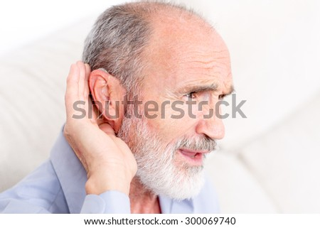 Symbol picture for listening - stock photo