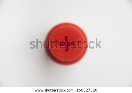 Symbol plus on white background - stock photo