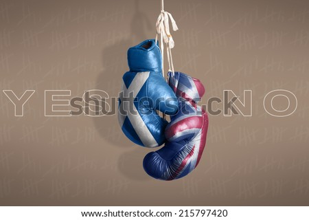 symbol Scottish independence referendum, 2014 - stock photo