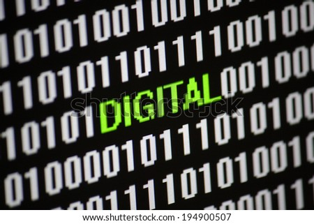 Symbolic Image: digital life/ digitization: digital.