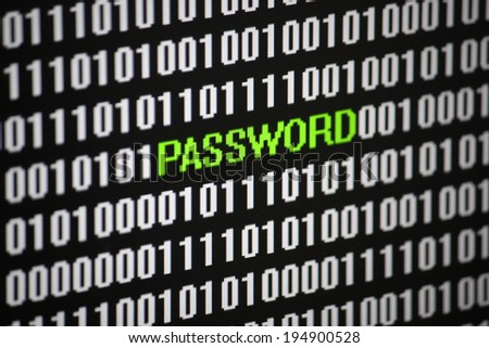 Symbolic Image: digital life/ digitization: password.