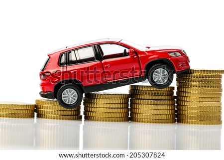 symbolic photo for car costs and inflation - stock photo