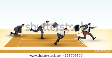 Symbolic presentation of a business competition - stock photo