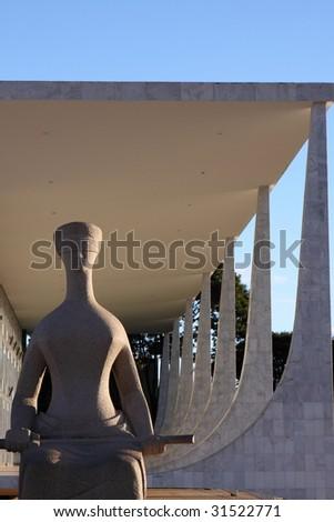 Symbolic Statue in Brasilia - stock photo