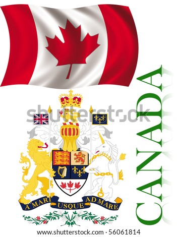 Symbols Canada Flag Coat Arms Stock Illustration 56061814 Shutterstock