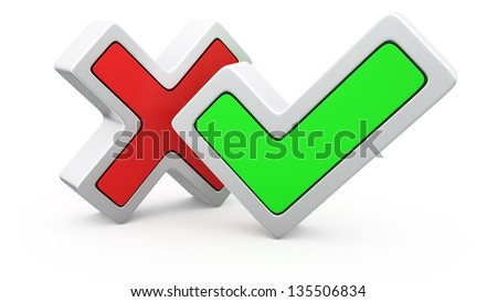 Symbols of negative and positive voting - stock photo