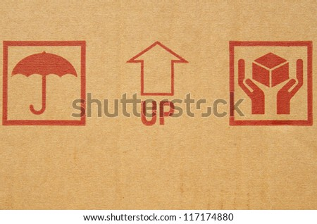 Symbols on folding carton