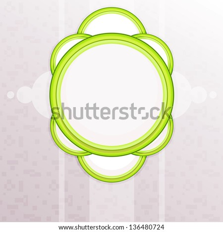 Symmetric illustration with seamless background