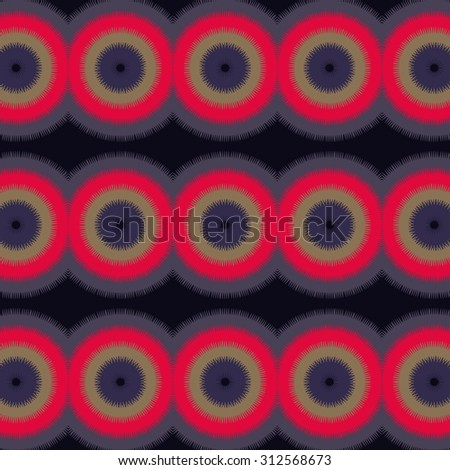 symmetric rosettes or toothed wheels pattern