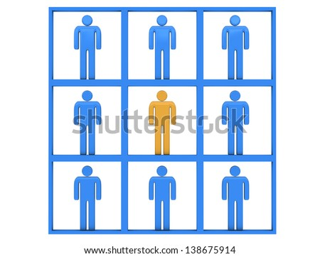 Symmetric world - stock photo