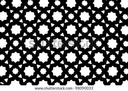 symmetrical arabic pattern background