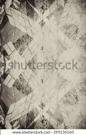 symmetrical geometrical grunge background