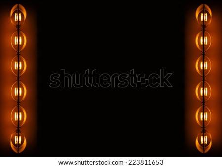 symmetrical light bulb border stock photo royalty free 223811653