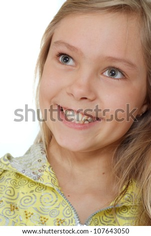 Sympothetic girl showed herself in the photos in all her glory - stock photo