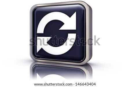sync icon - stock photo