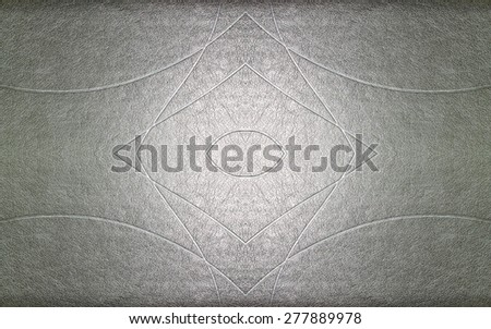 Synthetic leather with abstract pattern background - stock photo