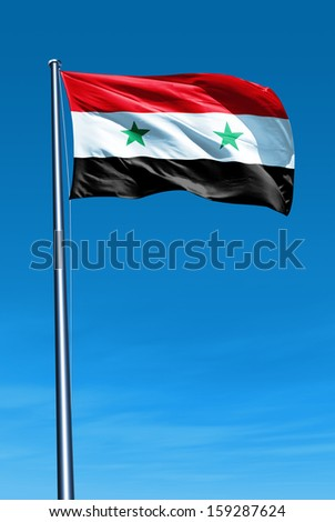 Syria flag waving on the wind