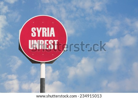 Syria Unrest Sign