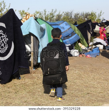 Syrian refugees are fleeing in order to arrive in Europe. Edirne, Turkey, 15 September 2015.  way of Europa in order to living , Syria, 02 February 2016.