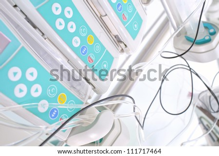 Syringe pumps in ICU - stock photo