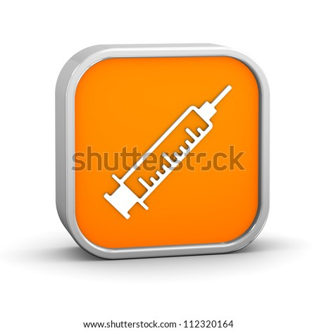 Syringe sign on a white background. Part of a series. - stock photo