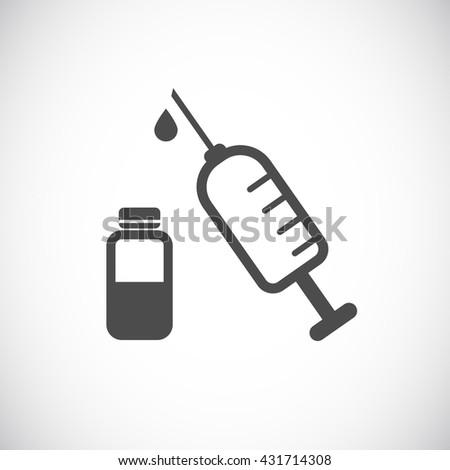 syringe web icon - stock photo